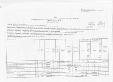 Звіт про надходження і використання коштів, отриманих як плата за послуги на 1 липня 2015 р.