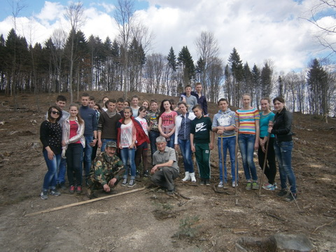 лісокультурна кампанія в «Сколівські Бескиди»